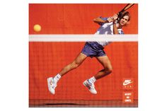 nike_agassi #old #tennis #photograpy #school #classic #orange #agassi #nike #kicks #vintage #poster #sport