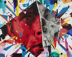 #drawing #painting #art #portrait #skull
