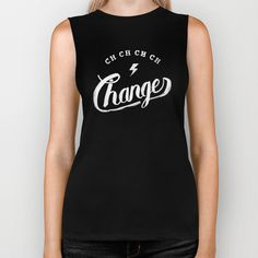 Changes - biker tank #lettering #david #t-shirt #bowie
