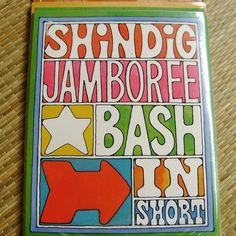 Vintage 1960s Mod Psychedelic Party Invitations by NikNakNook #mod #groovy #typography