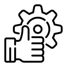 See more icon inspiration related to gear, like, hand, quality, cogwheel, industry, settings, configuration and Tools and utensils on Flaticon.