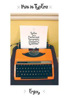 TypEra #typography #poster #serif #font #typewriter