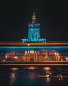 Warsaw at Night: Cinematic Urban Photography by Luke Pomotowski