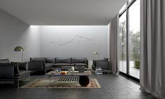 Pilkas interjeras / Gray interior. Personal project. View 01 #interior #vizualizacijos #dizonaurai #gray