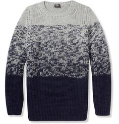 Jil Sander Chunky Knit Wool Sweater | MR PORTER #clothing #fade #gray #sweater #blue #knit