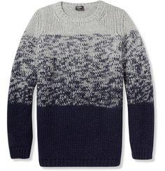 Jil Sander Chunky Knit Wool Sweater|MR PORTER #clothing #fade #gray #sweater #blue #knit
