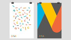 3 fish posters #creative #business #modern #print #design #graphic #identity #logo #cards #typography