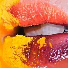 JKB Fletcher | PICDIT #yellow #color #lips #paint #painting #art