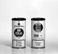 VegaFina 10 Perlas : Miguel Naranjo #packaging #design #naranjo #tobacco #miguel #vegafina #typography