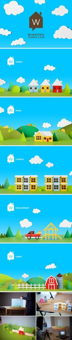 Winnipeg Homes Brand Identity - One Plus One Design #Brand #Identity #Illustration #Brand Identity