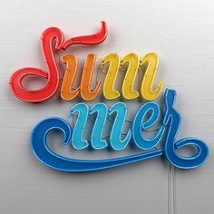 Summer on Behance #type #summer #neon