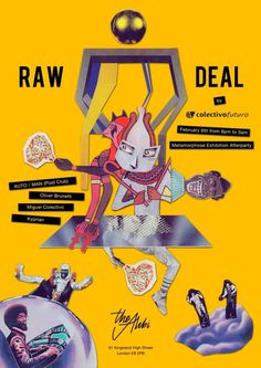 Raw Deal at The Alibi, London #jazz #london #design #graphic #poster #music #collage #party