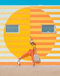 Visual Optimism: Candy-Colored Self-Portraits by Leslie Schneider