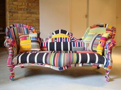 Patchwork sofa by Squint #sofa #furniture #chesterfield #squint #bespoke