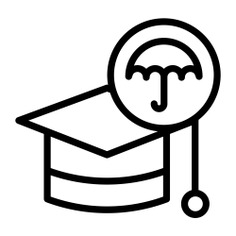 See more icon inspiration related to student hat, guarantee, academy, insurance, degree, mortarboard, education and security on Flaticon.
