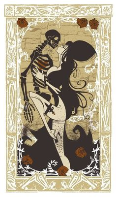 Gris Grimly #skeleton #dance #death #with