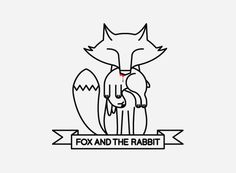 mkn design - Michael Nÿkamp #illustration #icon #fox #rabbit #ribbon #story
