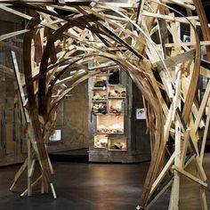 Dezeen » Blog Archive » L'Eclaireur Paris store by Studio Arne Quinze #store #interior #recycled #wood