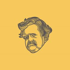 The Last one in the Biography Book Cover Series. This one on G. K. Chesterton. #ches - Peter Voth (@petervoth) #character #illustration #fac