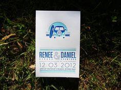 Renee and Daniel Wedding invitation set #wedding #letterpress