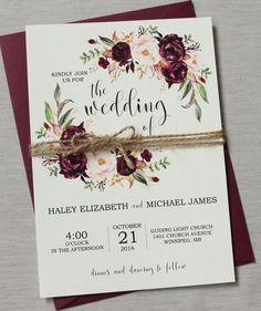 Bohemian Wedding Invite Set
