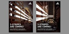 KMS BLACKSPACE : Brand Experience #campaign #stripes #adidas #poster