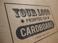 Cardboard logo mockup PSD #file #cardboard #mockup #psd #free #gfxnerds #photoshop #logo #download