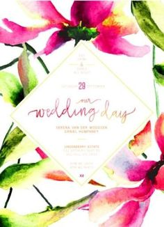 Party Like Serena - Wedding Invitations #paperlust #weddinginvitation #weddingstationery #weddinginspiration #flower #floral #card #print #