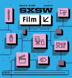 SXSW2013b_ProgramCover_Film_750 #music #illustration #typography