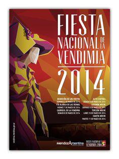 Fiesta Nacional de la Vendimia 2014 on Behance #vendimia #wine #harvest #grape #poster