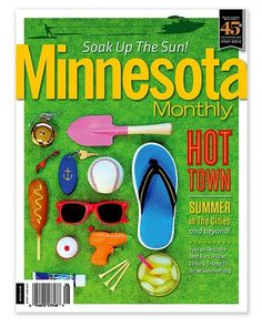 Minnesota Monthly : Matt Travaille : Graphic Design | Minneapolis #travaille #minnesota #sunglasses #cover #summer #baseball #magazine