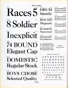 New Caslon type specimen #type #specimen #caslon