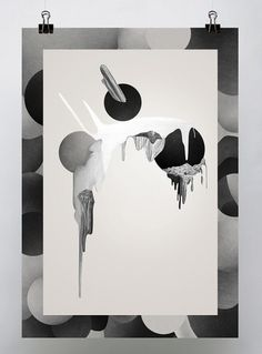 "ENTRE-PÃ""LOS on the Behance Network #white #design #graphic #black #illustration"