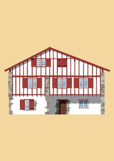 pays basque #illustration #house #basque