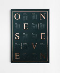 """""""ONE SEVEN"""" is the name of the new 2017 calendars designed by Kristina Krogh from Denmark Copenhagen. The prints come in a size of 50 x 70 c"""