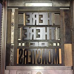 Letterpress Daily » wood type #letterpress #typography