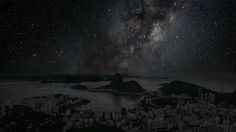 Rio de Janeiro photo in night with stars by Thierry Cohen