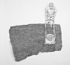 wire art #3d #sculpture #line #figure #wire #detailed #2d #drawing #detail