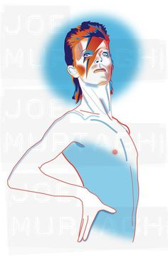 Joe Murtagh Vector Illustrations - David Bowie