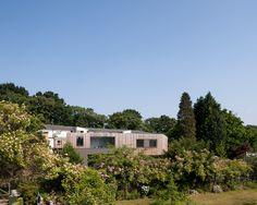 Irregularly-Shaped Wedge House Maximizing Views in Surrey, England #architecture