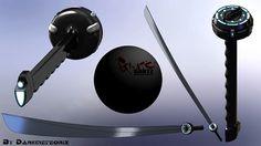 Gantz – Future Katana #weapon #sword #design #gantz