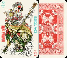 X__X • 死 者 の 顔 • #skull #skeleton #playing card