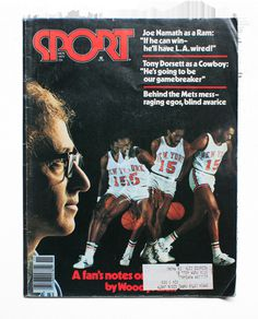 "SPORT magazine, November 1977 Featuring an entry by Woody Allen on Earl Monroe. ""The writer, director and basketball buff reveals why he has"