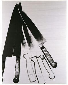Andy Warhol | Knives, 1981-82 Screenprint on canvas 228,6 x 177,8 cm Photo: Haydar Koyupinar © 2013 The Andy Warhol Foundation for the