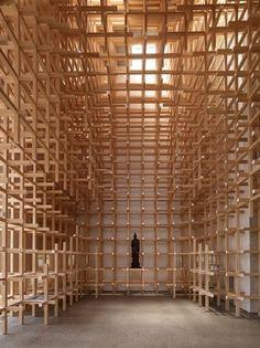 Prostho Museum Research Center   kengo kuma and associates #kuma #space #grid #wood #architecture #light
