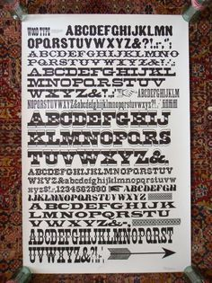 All sizes | GramLee wood type poster | Flickr - Photo Sharing! #type #sherman #nick #typography