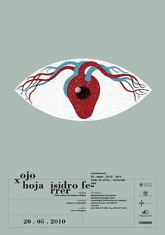 Carteles : Isidro Ferrer #heart #ferrer #huesca #spain #exhibition #eye #illustration #isidro #poster