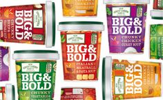 Big & Bold Soup - TheDieline.com - Package Design Blog #packaging