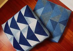Etsy.com handmade and vintage goods #pillow #triangles