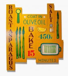 Design Work Life » Illustrated Bites Exhibition #signage #illustration #typography